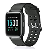 "Letsfit Smart Watch,Fitness Tracker with 1.3"" Touch Screen,Heart Rate Monitor,Pedometer,Sleep Monitor,5ATM Waterproof Smart Watch for Men Women"