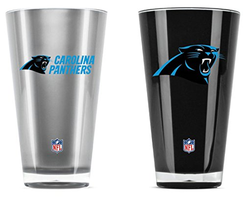 NFL Carolina Panthers 20oz Insulated Acrylic Tumbler Set of 2