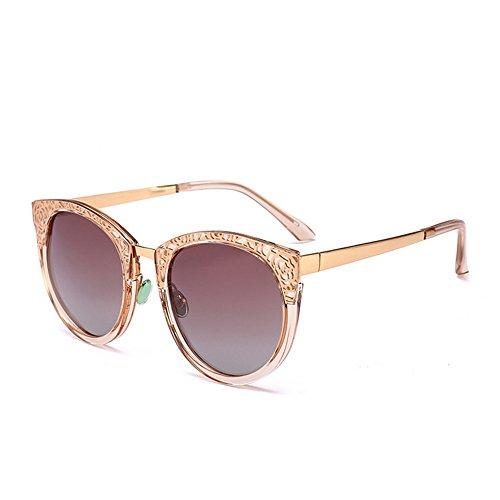 C2 Protección Diseño Gafas para Ultravioleta la de Elegante Mujeres C6 Las Gu Peggy del Sol Color Hueco de Retro TwqBSxz