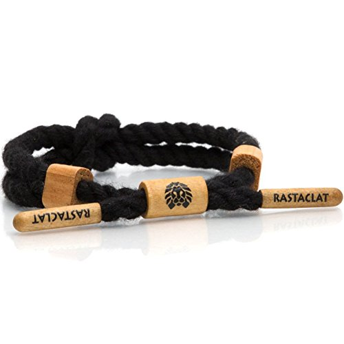 Rastaclat Knotaclot Color Block Baloo Bracelet Black, used for sale  Delivered anywhere in Canada