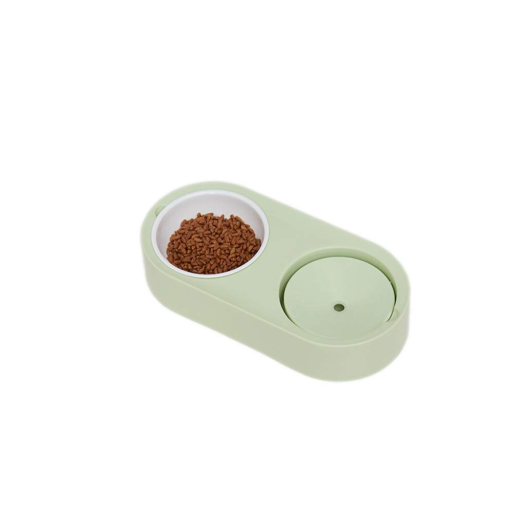 A XF Pet Bowl Pet Dog Bowl Double Bowl Not Wet Mouth Hair Bowl Cat Food Bowl Pet Supplies, 33cmX13cmX6.5cm Pet Feeding and Watering Supplies (color   A)