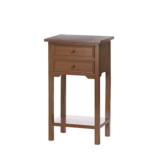 FA Decors Koehler Home Kitchen Decorative Gift Natural Portable Wooden Side Table