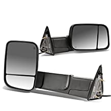 Dodge RAM Pair of Black Powered + Heated Glass + Foldable Side Towing Mirrors