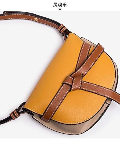 a con con selvaggia borsellino femminile Borsa a borsa mini a Borsa giallo moda spalla colori Wybbag a tracolla di tracolla gqOdw1x