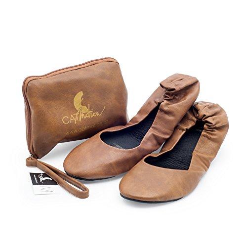 CatMotion Zapatos Plegables Para el Bolso, Bailarinas de Señora, Bailarinas Plegables, Zapatos de Bolsillo, EN Diferentes Colores Native