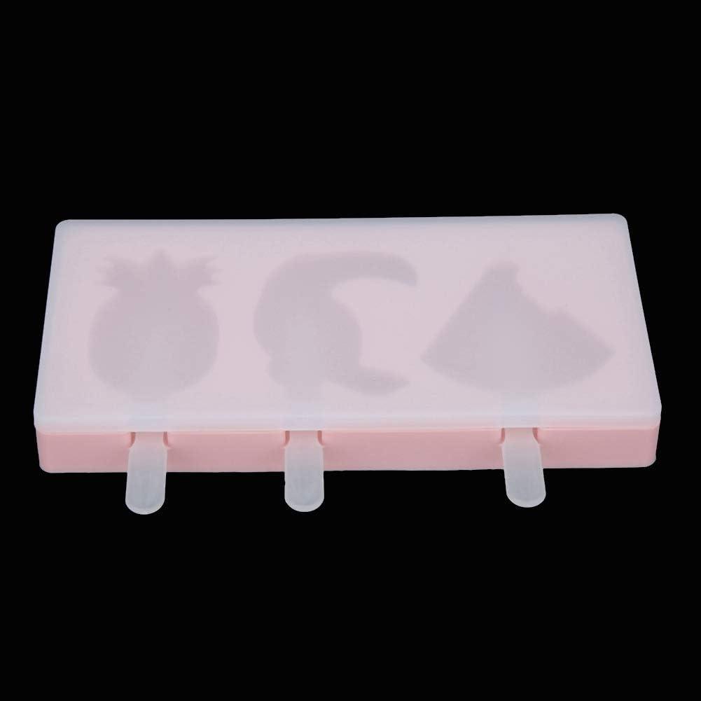 adatto ai bambini Uccelli Stampo in silicone rosa ghiacciolo carino per pudding Jello Yogurt Cioccolato formato mini Stampo per gelato a forma di frutta Sicuro e resistente.