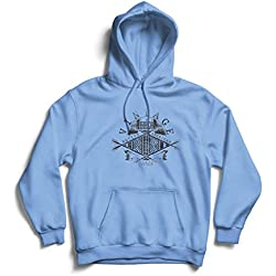 Hoodie Vintage San Diego Native American, Indigenous Peoples' Day - Columbus Day (XX-Large Blue Multi Color)