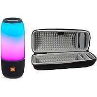 JBL Pulse 3 Wireless Bluetooth IPX7 Waterproof Speaker, Black, with Portable Hardshell Travel Case