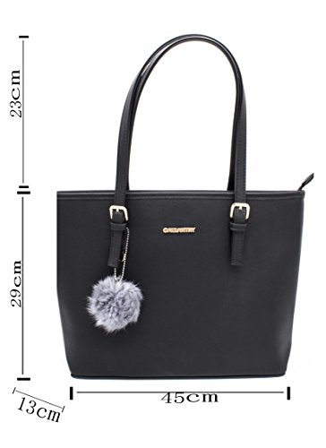 Noir Fille Mujer Para Sac Gallantry Bolso Al Hombro Negro Simple Cours qwnzx1HxB