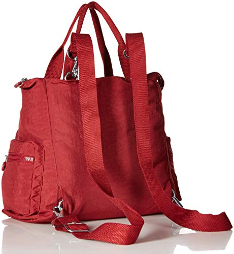 Sparkly Handbag Kipling Women's Alvy Brick Convertible Shoulder Red Gold EO1CqwYC