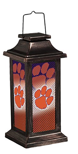 Team Sports America NCAA Solar-Powered Outdoor Safe Hanging Garden Lantern