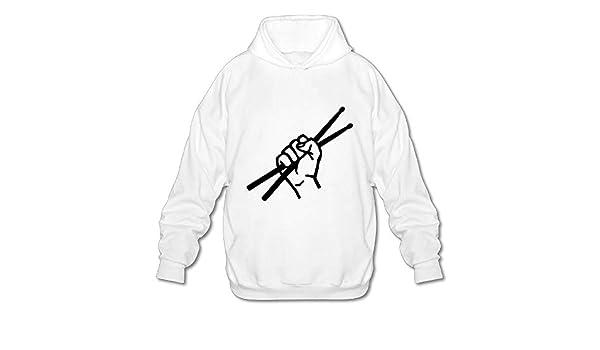 OPQRSTQ-O Drumsticks Drummer Funny Mens Printed Hooded Sweatshirt Hoodie