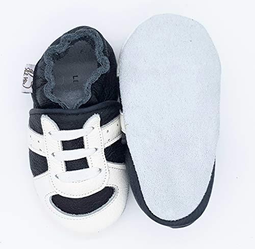 Materne Al In Fino Nido 32 Da Infanzia Prima Scarpine Nera Lepeppe Pantofole Sneakers Runner Danza Ginnastica Neonato Pelle Scarpa Passi 33 Babucce Primi 6qxz54