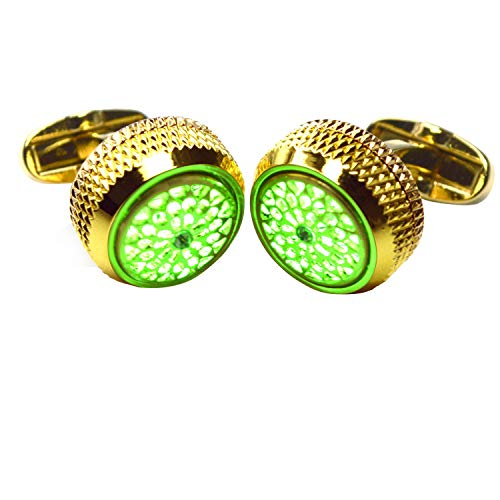 - WSHYKJ Men's Cufflinks LED Cufflinks Cufflinks Glowing Cufflinks Night Flashing Gemstone Light Cufflinks Stylish Cufflinks Tuxedo Shirts Business Weddings Groomsmen's Day Party (Green)