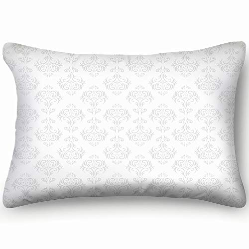 jtykftuf Damask Wallpaper Illustrations Clip Art Wallpaper Illustrations Clip Art Decorative Pillow Cover Soft and Cozy, Standard Size 20