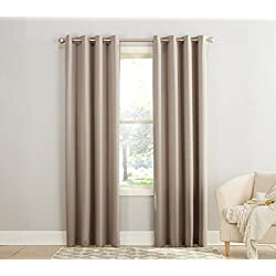 "Sun Zero Barrow Energy Efficient Grommet Curtain Panel,Stone Beige,54"" x 84"""