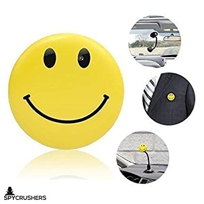 SpyGear-Smiley Face Pin Spy Camera & Hidden Digital Video Recorder, Best Smile Face Badge Wearable Camera Mini Video Recorder, Photo, Video & PC Webcam Functionality, Satisfaction Guaranteed - Crushers