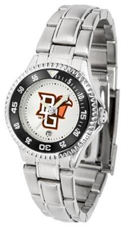 SunTime Bowling Green State Falcons Competitor Ladies Watch with Steel ()