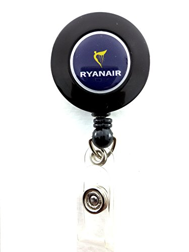 ryanair-airlines-yo-yo-id-card-badge-holder-retractable-reel-fr-lanyard-airline