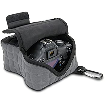 USA Gear FlexARMOR X DSLR Camera Case Holster Sleeve for Protection from Bumps and Drops - Works with Canon EOS 5DS , Rebel T6 , 80D and More