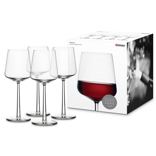 Wine Blends Red Bordeaux (Iittala Essence Red Wine Glasses, Set of 4, Clear (ES112059))