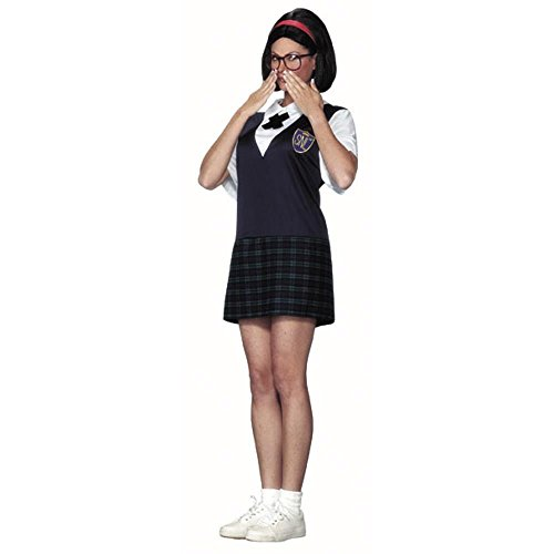 [Adult School Girl Super Star Costume] (Catholic School Girl Costumes For Adults)
