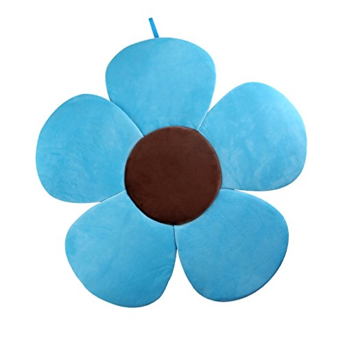(Baby Bath Support Lounger, Kakiblin Flower Baby Bath Comfort Baby Bath Pad for 0-6 Months, Blue)