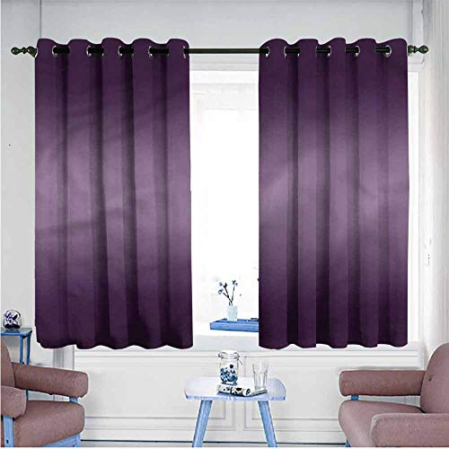 VIVIDX Curtains for Bedroom,Ombre,Modern Hollywood,Hipster Patterned,W55x63L