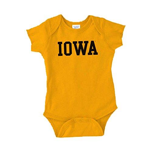Iowa Hawkeyes Basic Creeper - 6 Months - Gold (Iowa Hawkeye Baby Clothes)