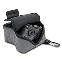 USA Gear FlexARMOR X Neoprene DSLR Camera Case Holster Sleeve - Works with Nikon DF, D7100 , D5300 , D5200 , D3300 , D3200 , D3100 , D610 & More!