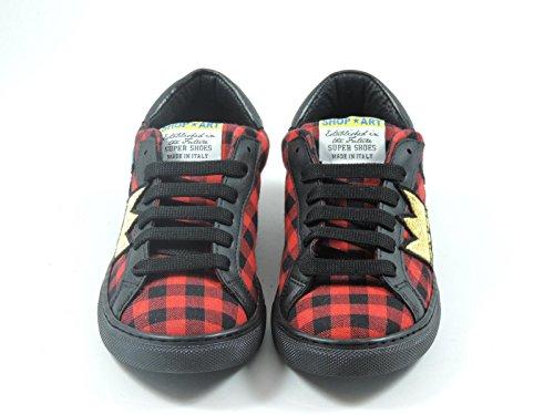 Sneakers dames kunst Rode Canvas Winkel qOxTPwn