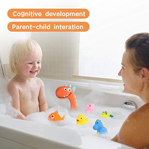 Think Wing Baby Bath Toys Rubber Pool Toy for Toddlers 20 Packs Swimming Sprinkle Bathtub Shower Gift for Kids Animal Recognize Educational
