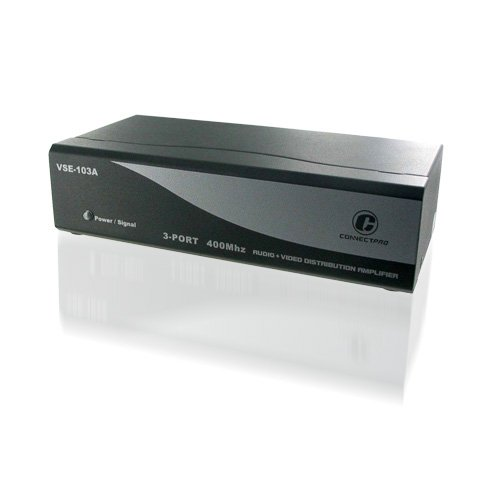 ConnectPRO VSE-103A, 3-port 400 MHz Video Audio Splitter
