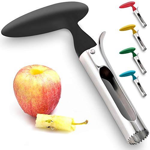 Premium Apple Corer - Easy to Use and Durable Apple Corer Remover for Pears, Bell Peppers, Fuji, Honeycrisp, Gala and Pink Lady Apples - Stainless Steel Best Kitchen Gadgets Cupcake Corer, by Zulay