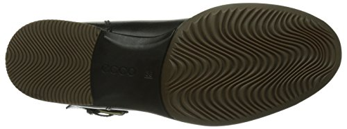 Ecco SAUNTER, Stivali altezza metà polpaccio Donna, Nero (Schwarz (BLACK/BLACK-DARK SHADOW 57487)), 38