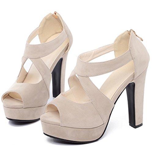 Strap Sandalias Blanco Plataforma Tacones Toe Alto Cross tacon Peep Mujer Zapatos RAZAMAZA PSfqEnaE