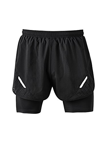 "Men's 3"" Running Shorts By Athmile,Workout Active Quick Dry Training Shorts with Lining"