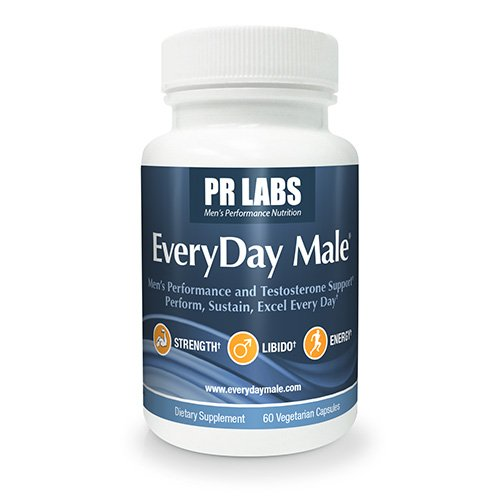 PR Labs - EveryDay Male® Natural Testosterone Booster for Men | Male Enhancing Supplement & Libido Booster Supports Natural Hormone Production, Erectile Function, Metabolism, Strength & Stress Relief