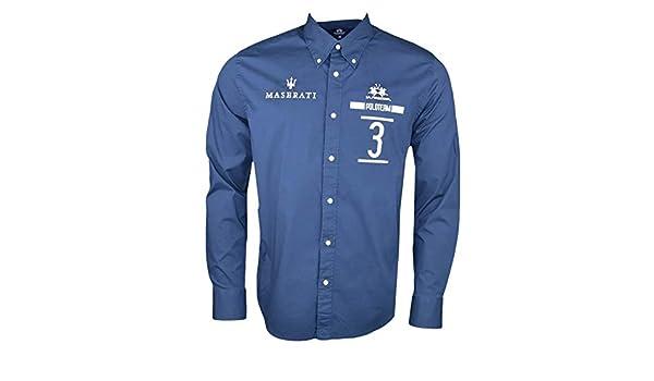 La Martina - Camisa Casual - Chaqueta - para Hombre Azul S: Amazon.es: Ropa y accesorios