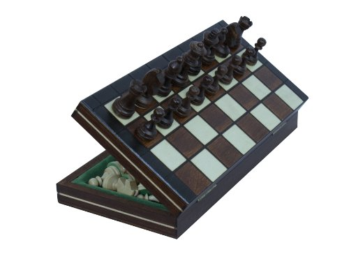 Travel Magnetic Chess Set w/ Wooden 9.25