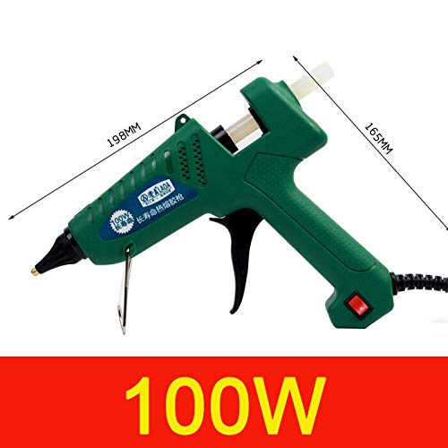 Hot Glue Gun 25W/60W/100W/150W Hot Melt Glue Gun Professional Pistolet a Colle Mini for Metal/Wood Working Stick Paper Hairpin PU Flower (100W)
