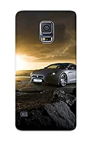 Defender Case With Nice Appearance (exagon Furtive Sunset ) For Galaxy S5 by icecream design