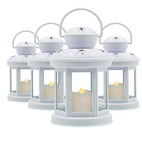 Decorative White Candle Lanterns Soft Flickering LED Light Wedding Lanterns Home Decor Lanterns -7.5
