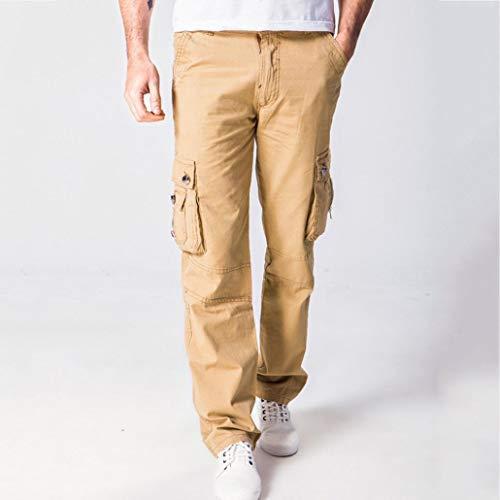 Poche Outil Multi Lannister Unie De Hommes Vêtements Couleur Slim Fashion Coton Pantalon Décontractés Kaki Fête Fit Pantalons Mode ZqwxgAUZO