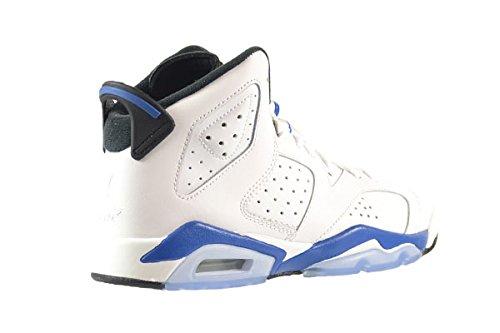 6 black Jordan Turnschuhe white blue Jungen BG sport Nike Retro Schwarz Air EqPnpt