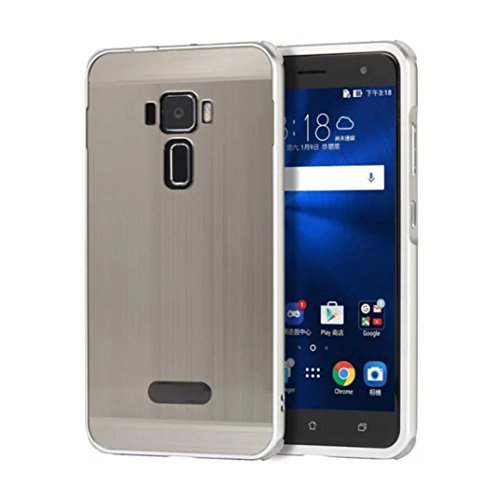 (Egmy® Hot! 2016 Quality Product Brushed Metal Aluminum Hard Case Cover for Asus Zenfone 3 ZE520KL (Silver))