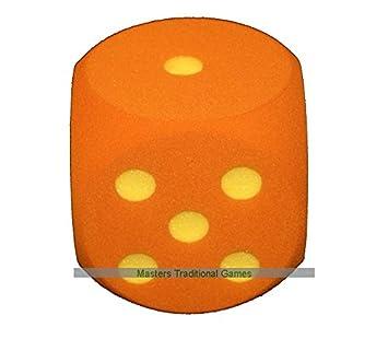 Masters Traditional Games Dado de Espuma Gigante de 16cm - Naranja ...