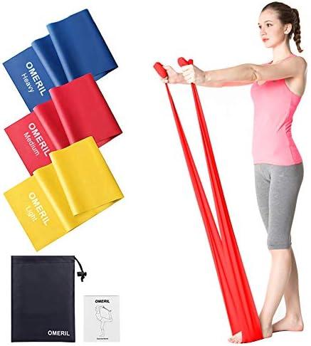 Trongle Resistance Bands Set Pilates Band Latex Free 1.5m Length 3 Flex Options