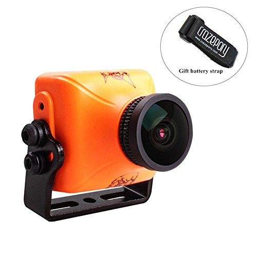 RunCam Eagle 2 Pro FPV Camera 800TVL 2.1mm FOV 170 DC 5-36V Integrated MIC Global WDR OSD Audio CMOS 16:9 4:3 Switchable for Racing Drone Multicopter Orange by Crazepony (Runcam Owl Plus Best Settings)