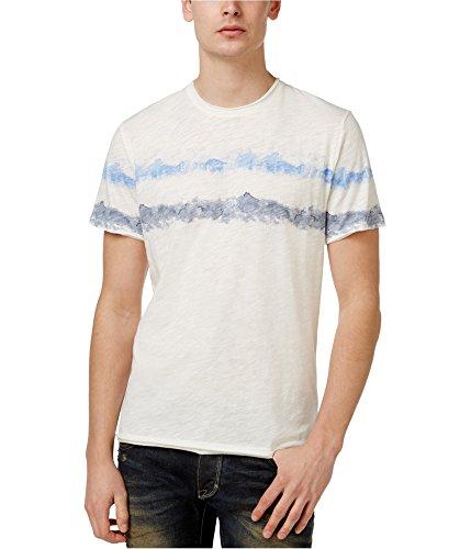 American Rag Mens Stripe Basic T-Shirt Off-White S